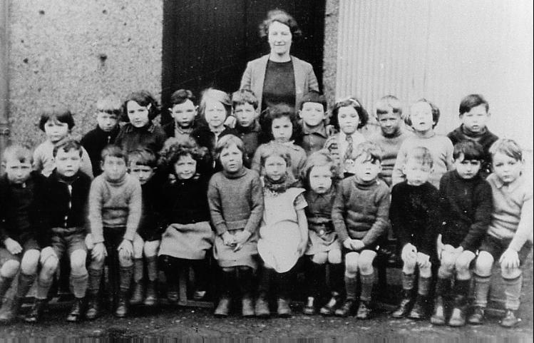 Mallaig School pupils about 1939