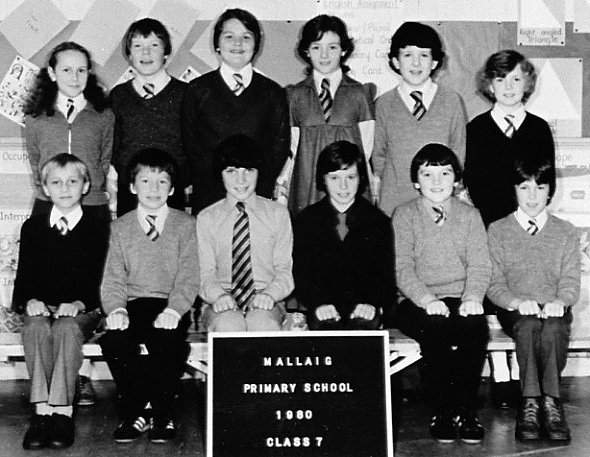 Mallaig Primary School  Year 7 in 1980