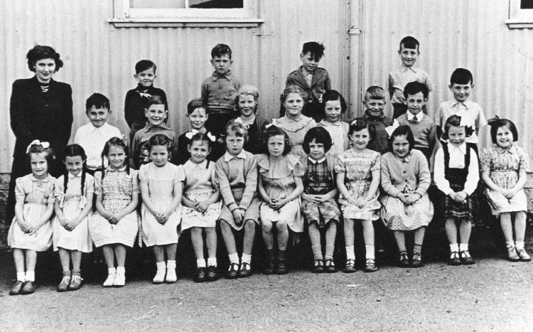 Junior class at Mallaig School, about 1950