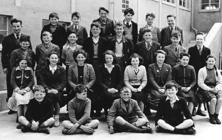 Mallaig Secondary School class, about 1955