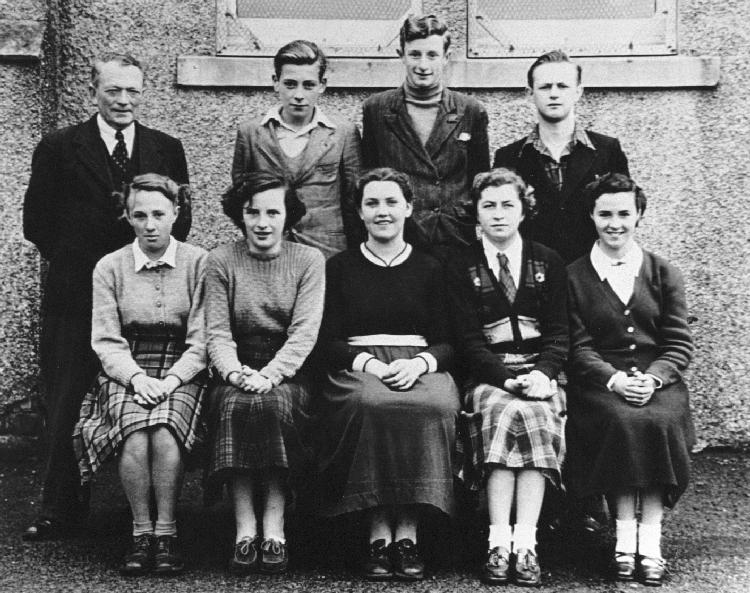 Mallaig Secondary School class, about 1955 (older pupils)