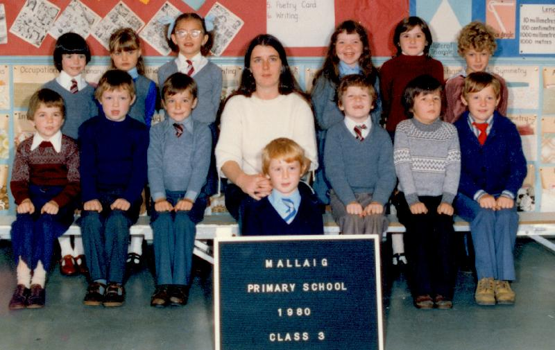 Mallaig Primary School Class 3, 1980