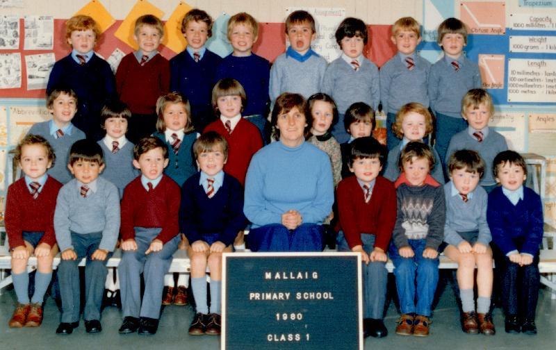 Mallaig Primary School Class 1, 1980