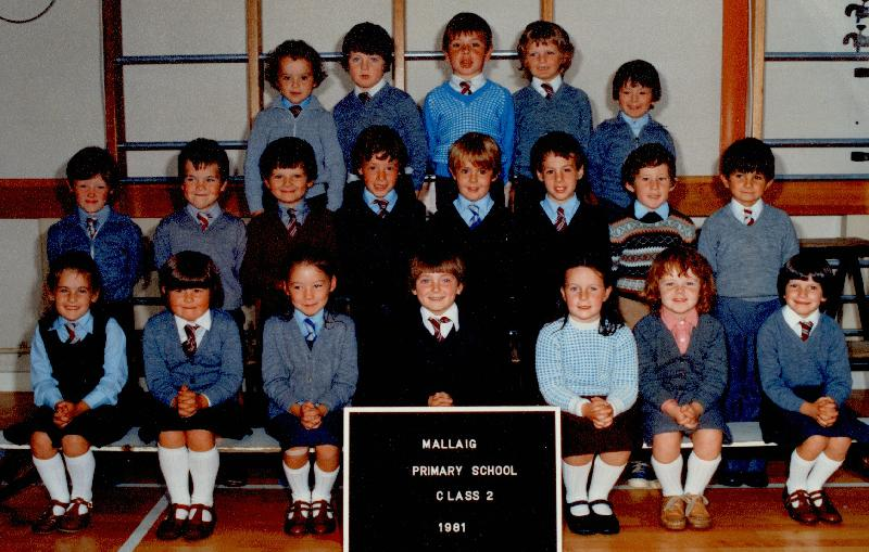 Mallaig Primary School Class 2, 1981