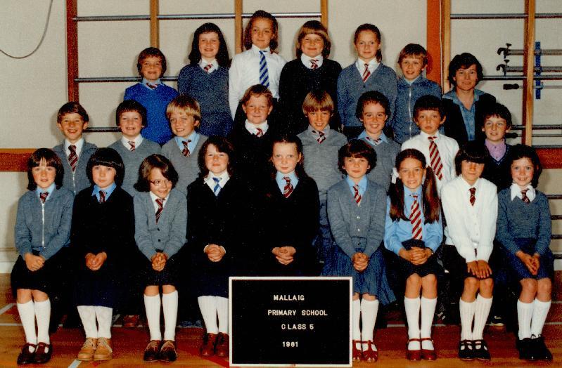Mallaig Primary School Class 5, 1981