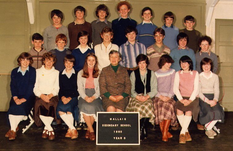 Mallaig Secondary School 3rd year, 1980